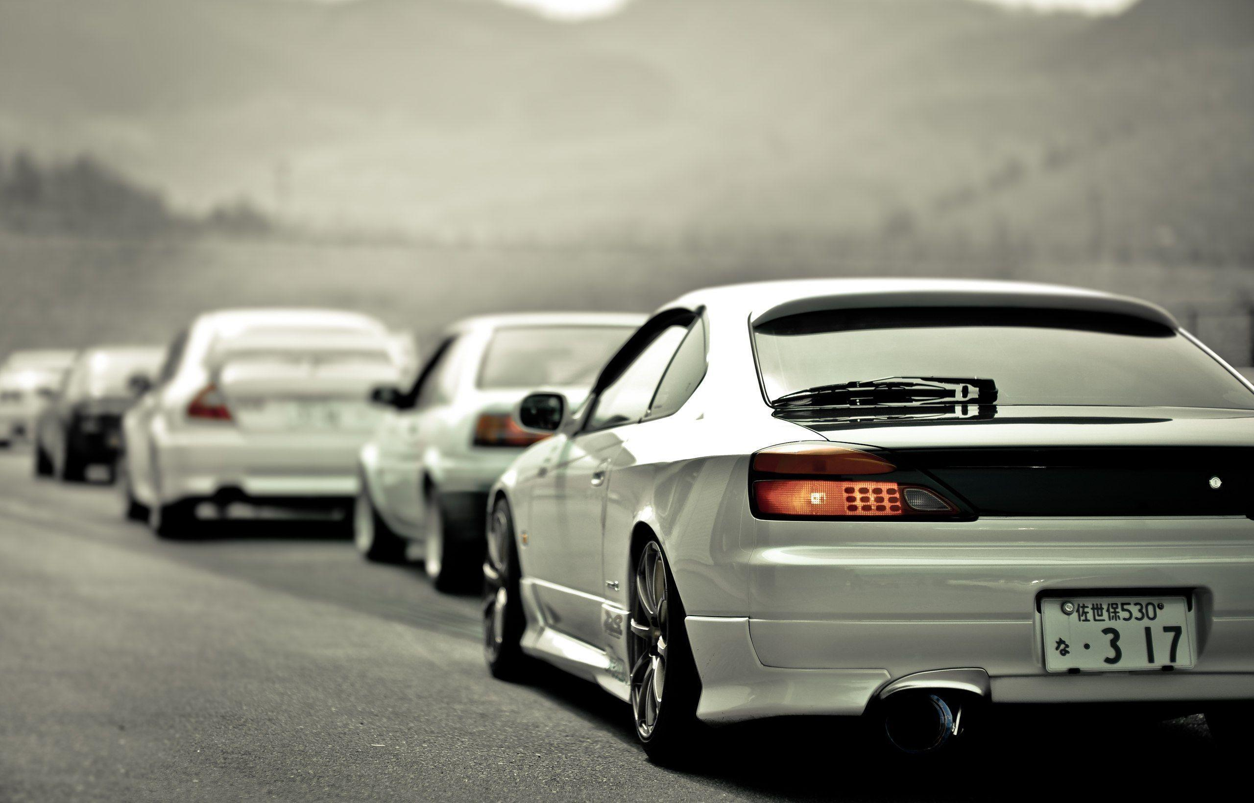 Wallpapers Nissan, Silvia, S15, Volk, White, Rear   Car Pictures .