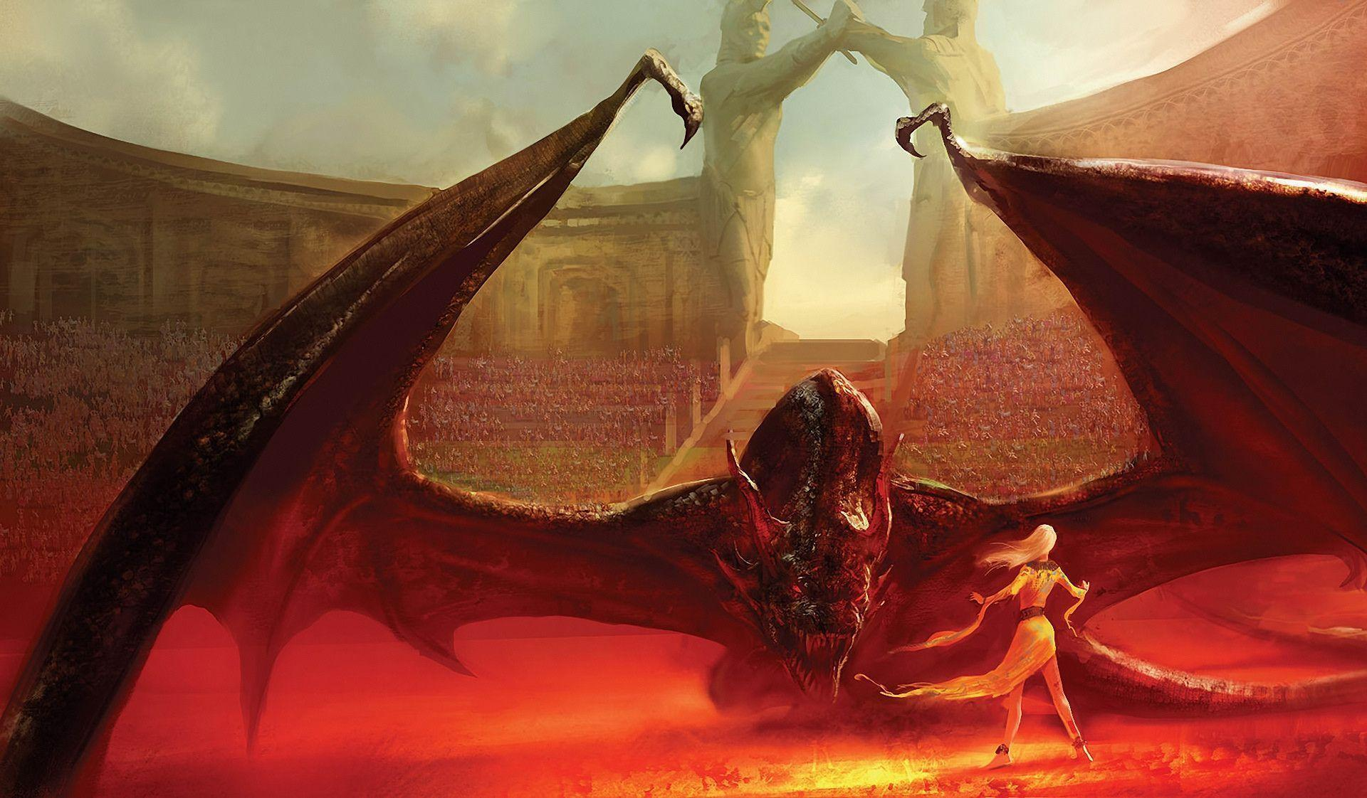 Marc simonetti Song of Ice and Fire Daenerys Targaryen Drogon