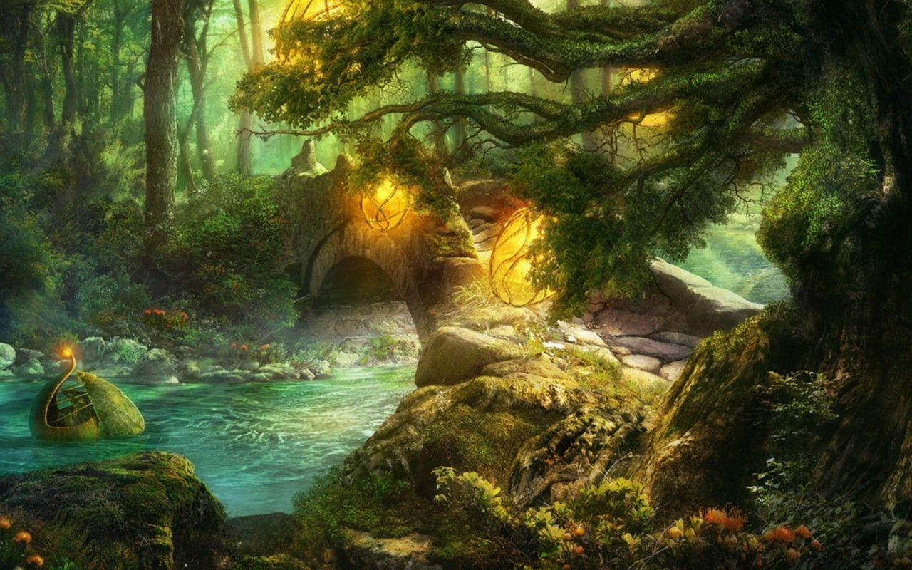 fantasy forest wallpapers - wallpaper cave