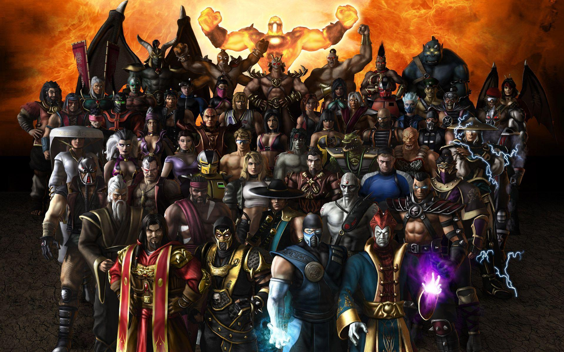 Mortal Kombat Characters Wallpapers Wallpaper Cave
