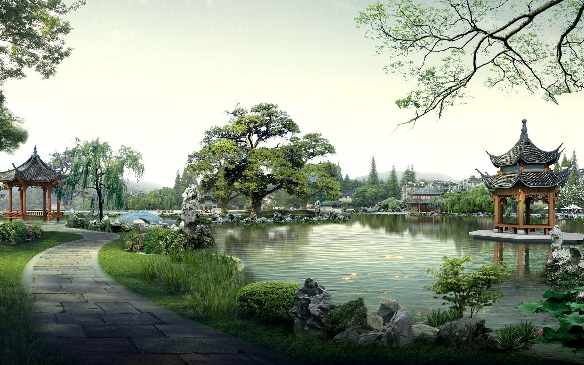 Image For > Japanese Landscape Art Wallpapers