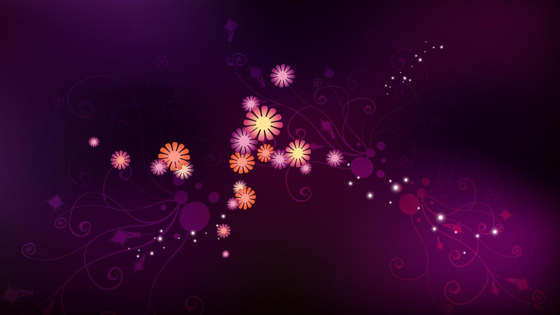 Wallpapers For > Purple Flower Backgrounds For Desktop