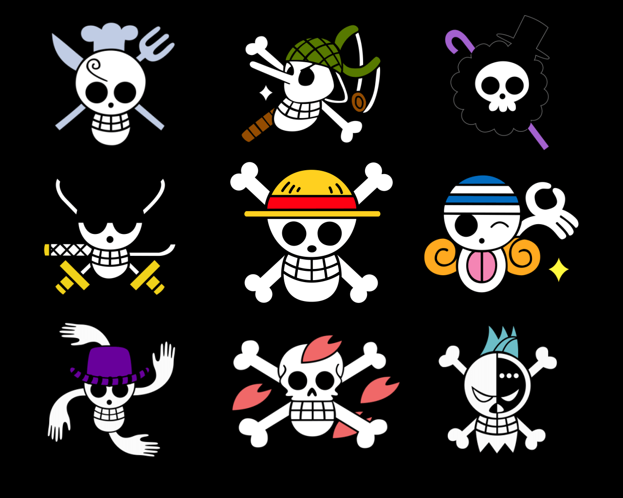 Monkey D Luffy And Crew Flag Wallpapers