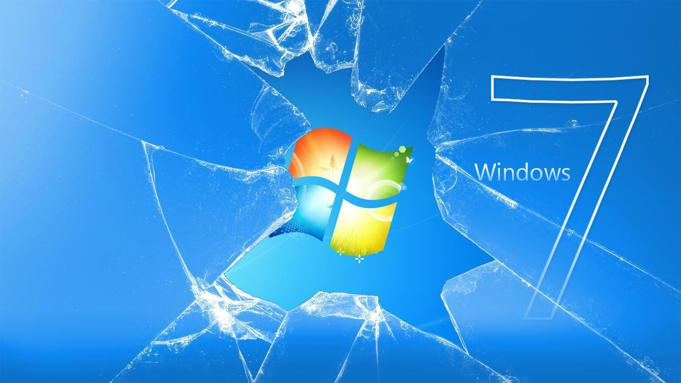 Broken Windows 7 Screen Wallpapers Photo Car Pictures