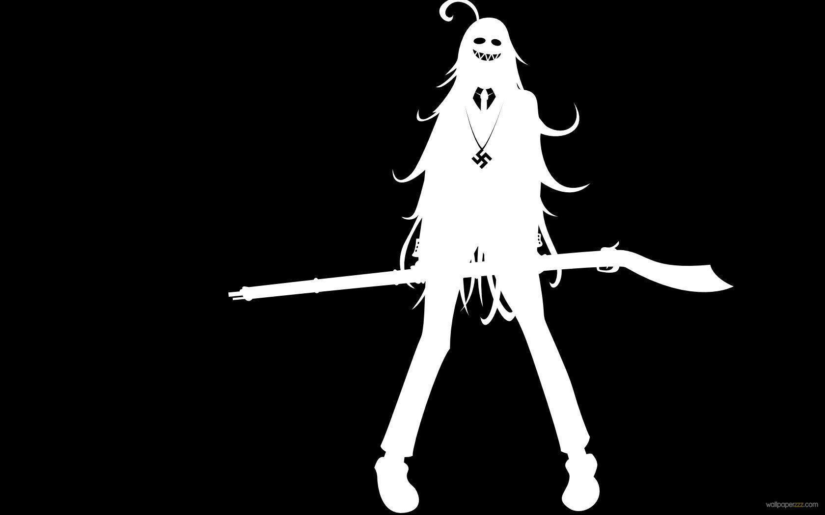 Black and white anime wallpaper