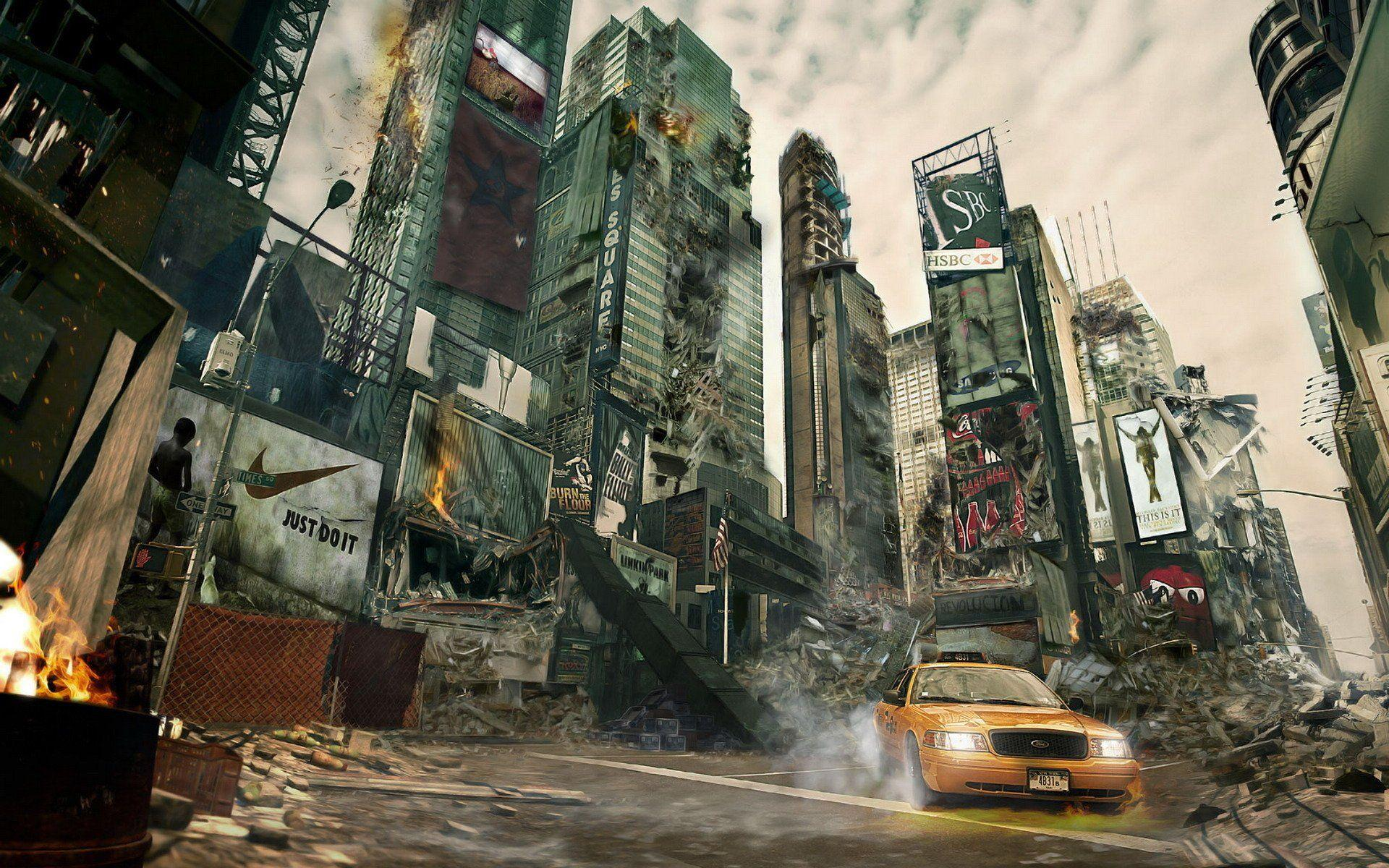 Destroyed city backgrounds wallpaper cave images for destroyed city background voltagebd Images