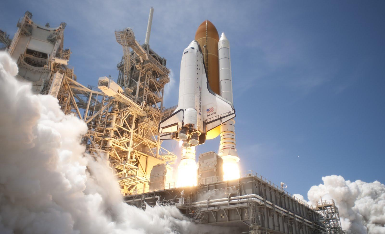 Space Shuttle Atlantis Launches From Kennedy Space Center Florida