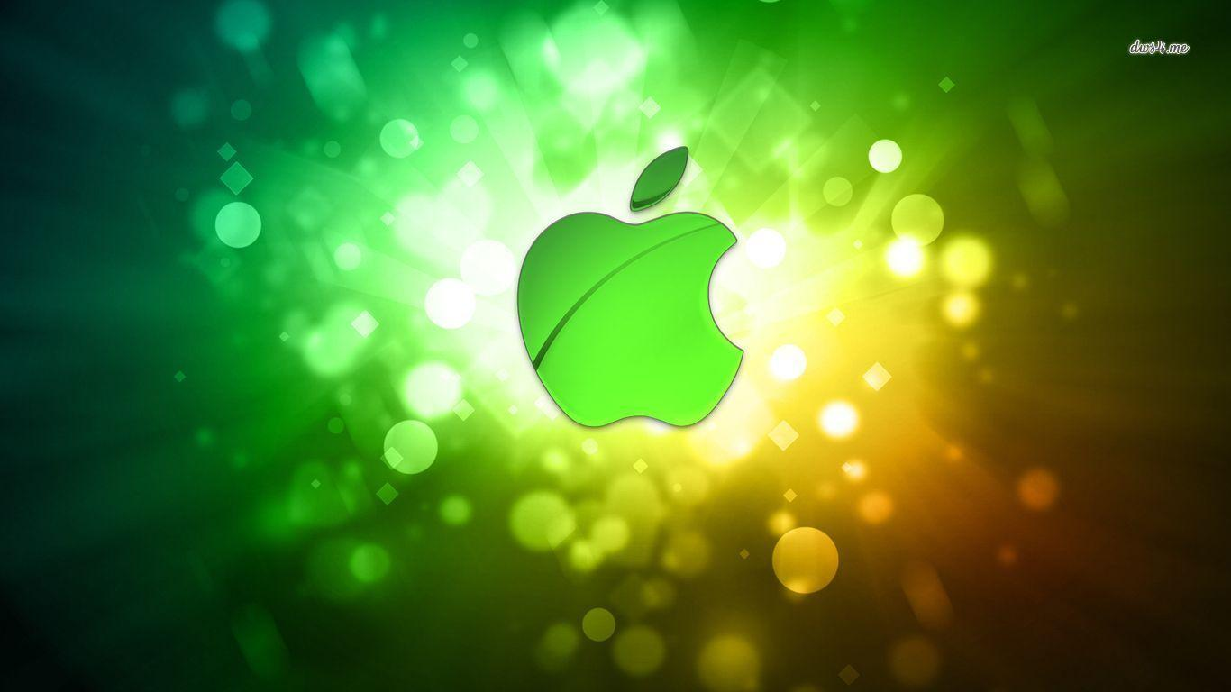 Wallpapers For > Green Apple Logo Wallpapers