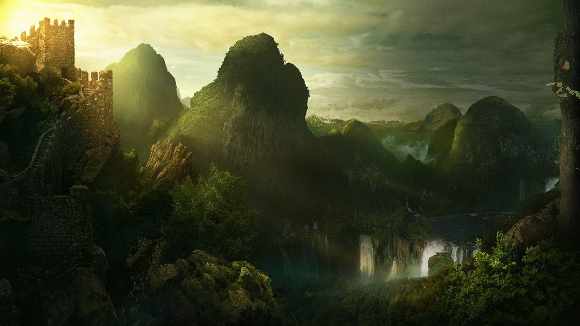 Stunning Hd Fantasy Gaming Desktop Wallpapers: Fantasy Landscape Wallpapers