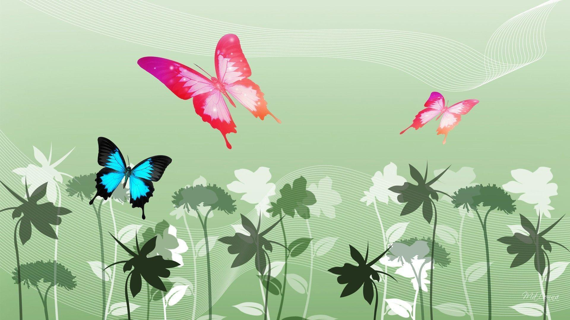 Обои с бабочкой баттерфляй