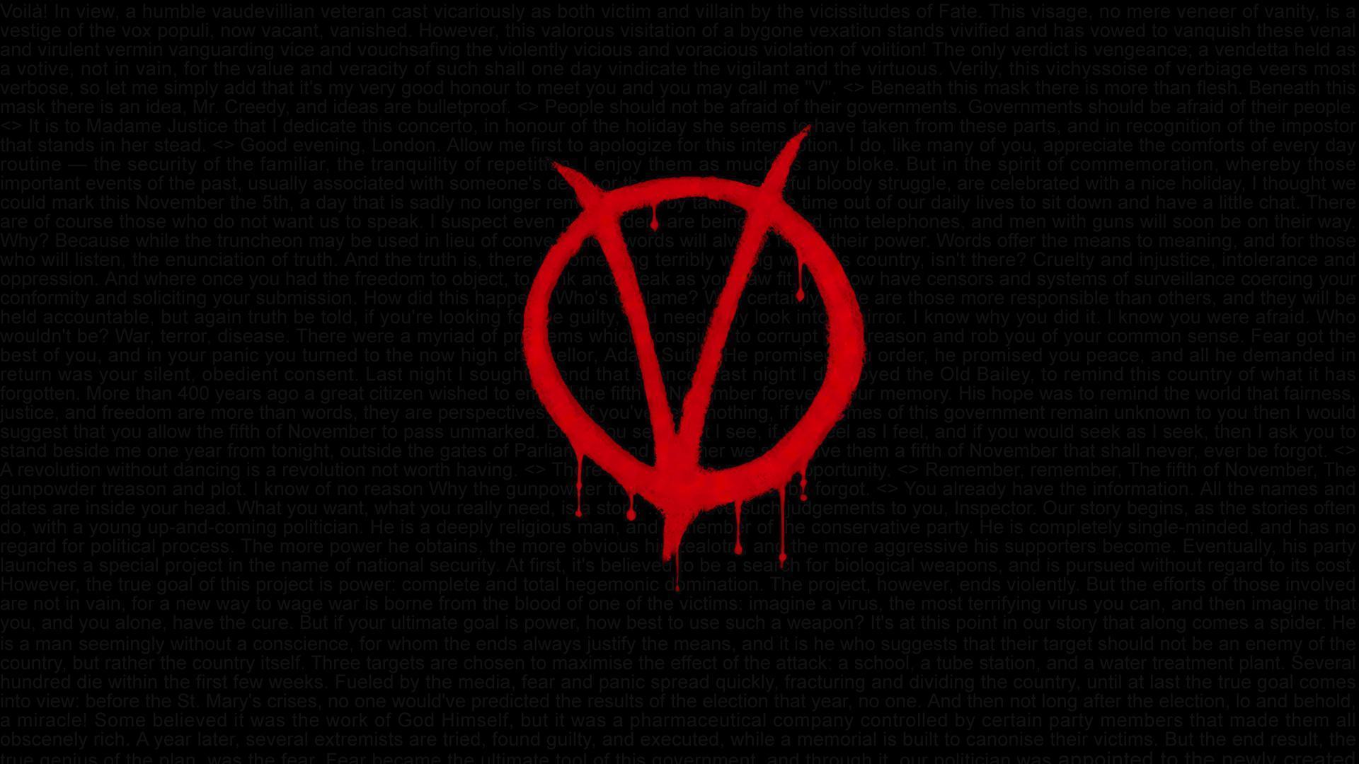 V For Vendetta Wallpaper Hd