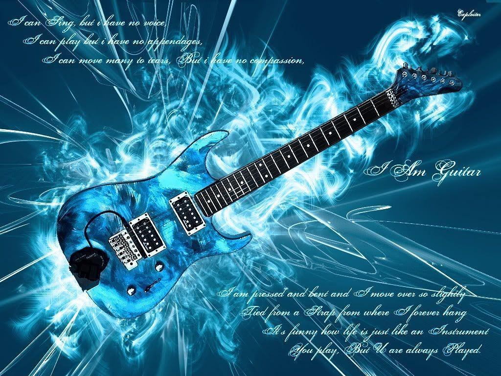 Flaming Guitars Digital Art Hd Wallpaper: Cool Guitar Wallpapers