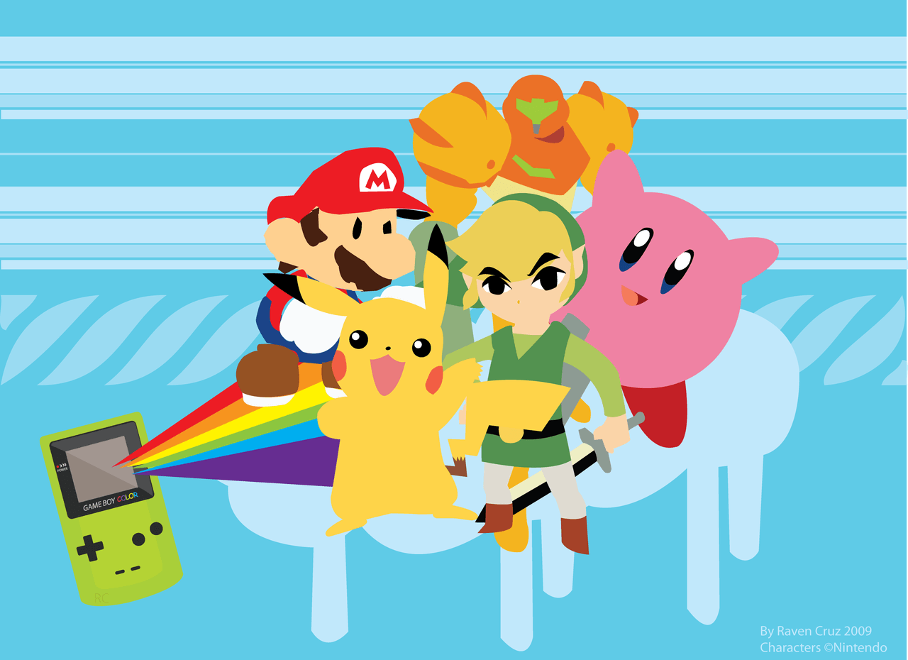 Images For > Nintendo Characters Wallpaper
