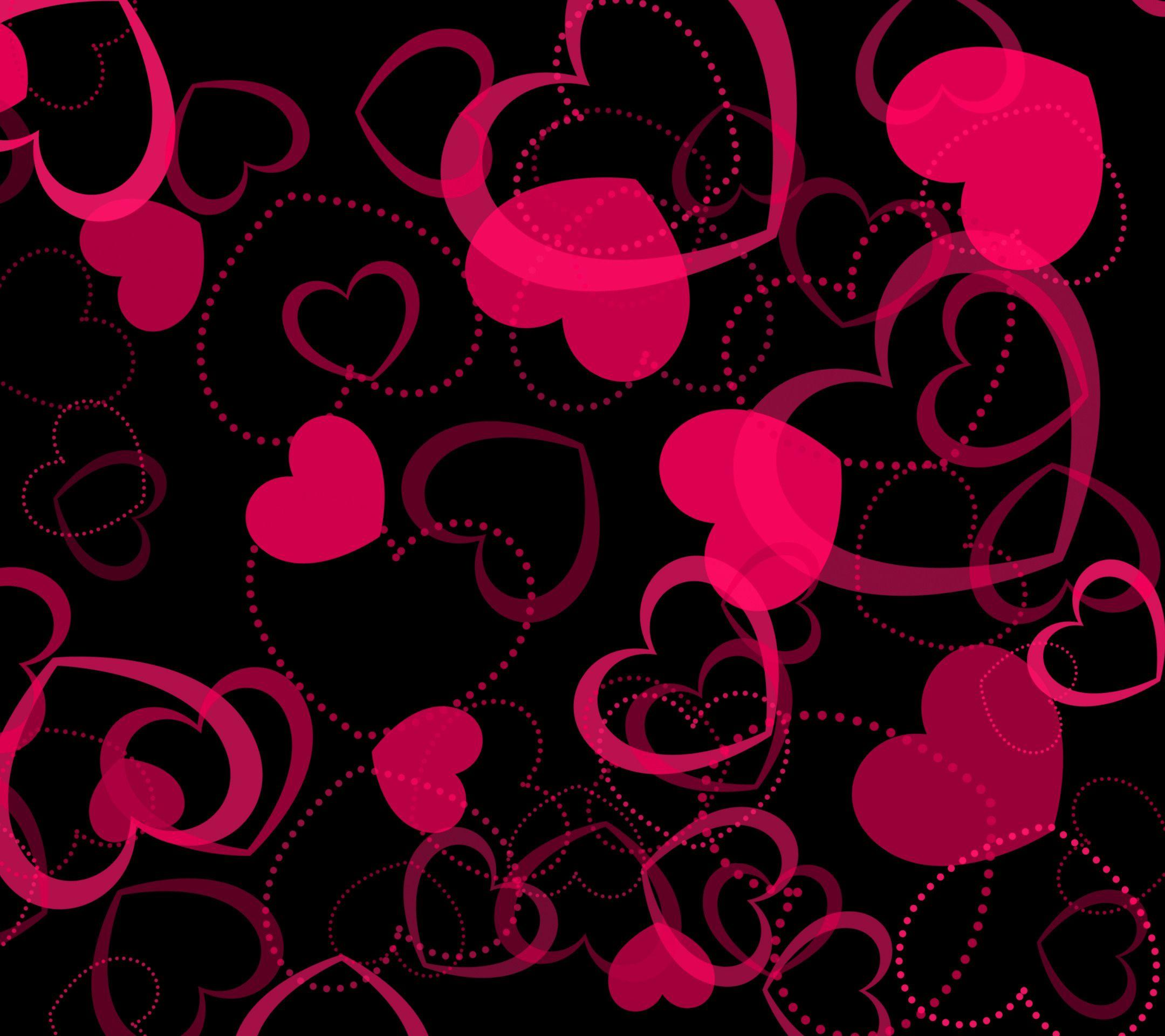 pink hearts wallpapers wallpaper cave