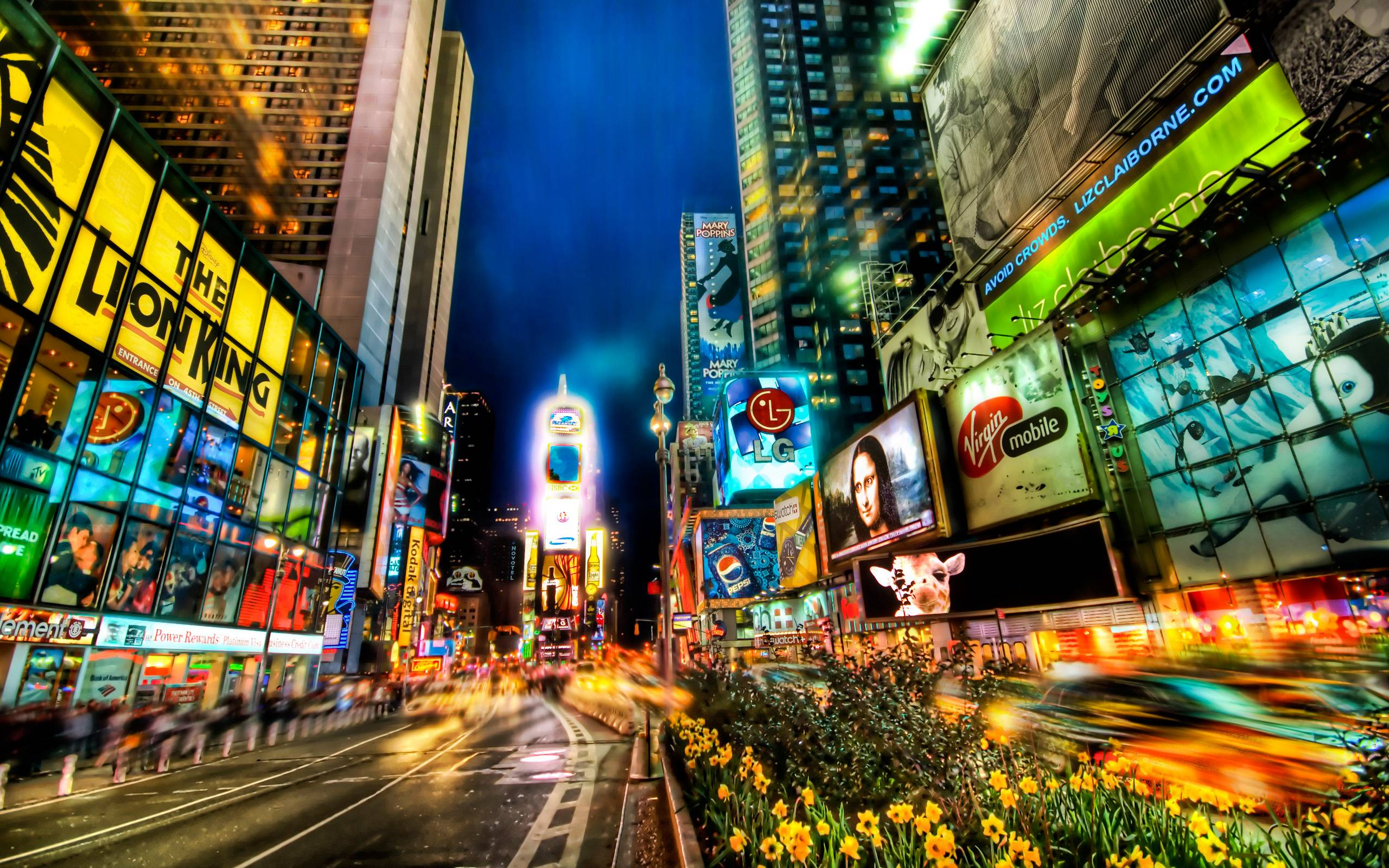 Times square wallpapers wallpaper cave for Places to see in nyc at night