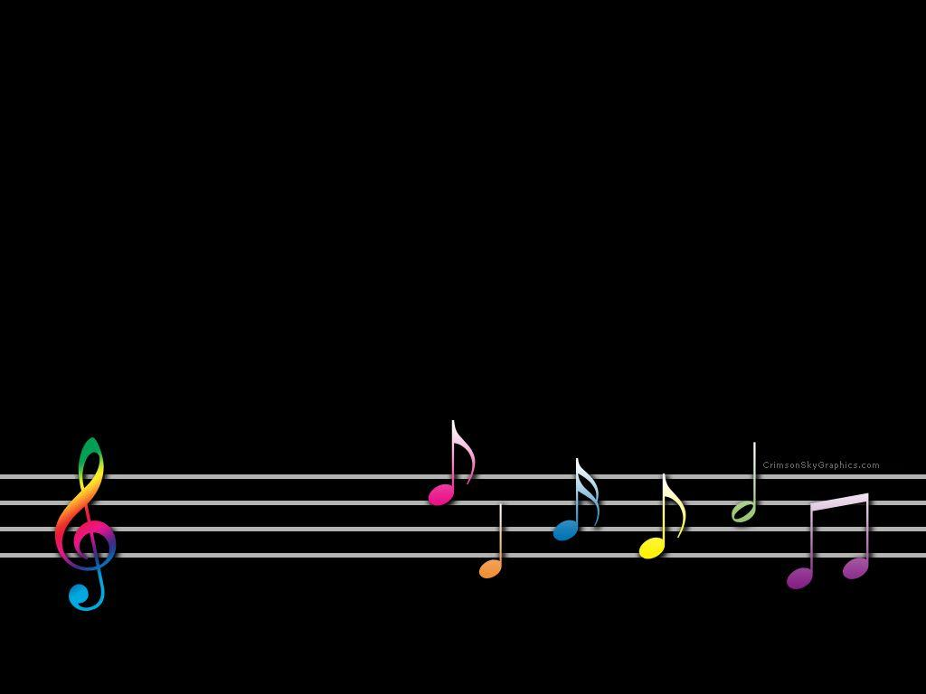 Rainbow Music Notes Background Hd Wallpaper Background Images