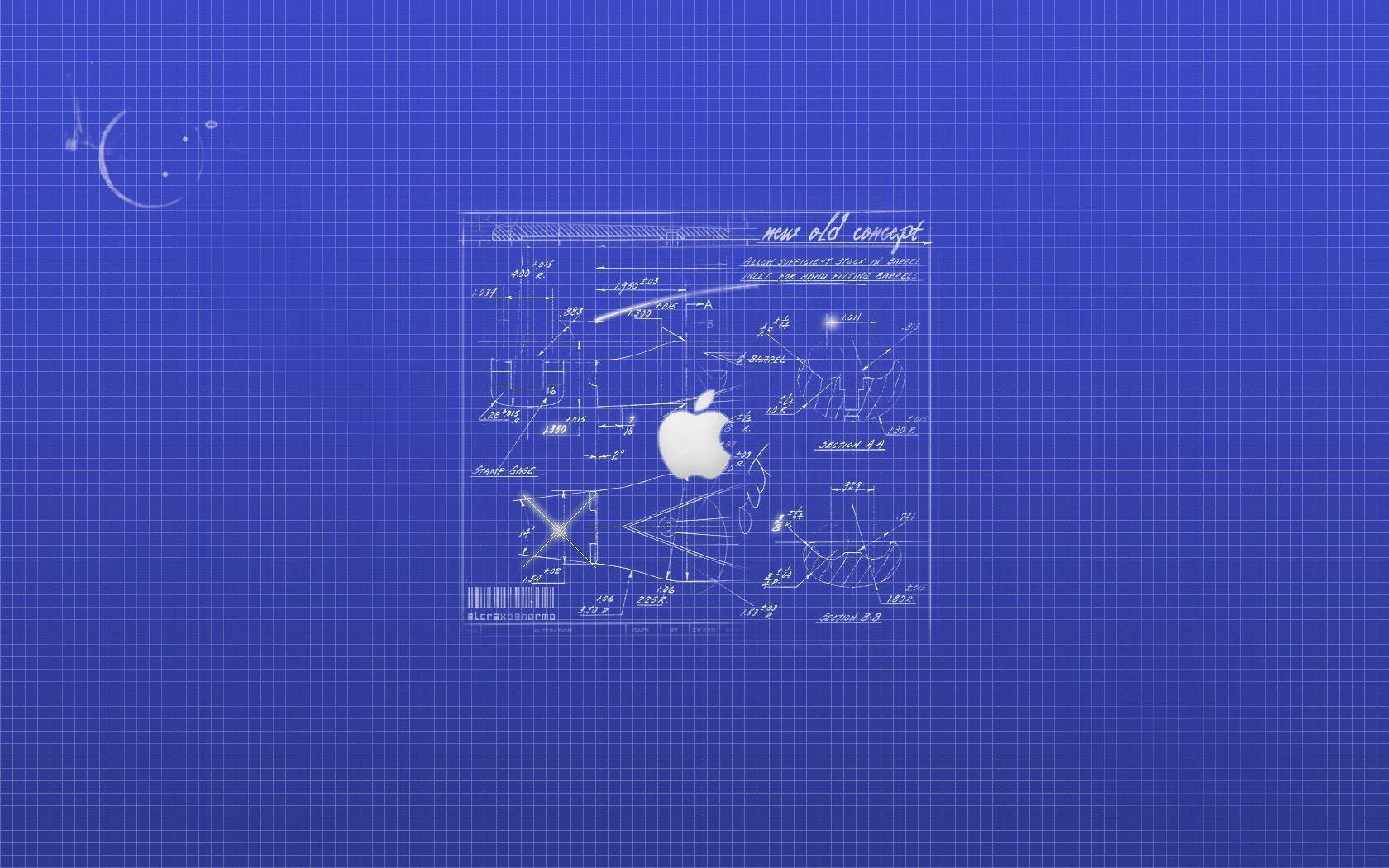 Blue Apple Icon Design Ideas Wallpapers Tiger Mac Os 1680x1050PX