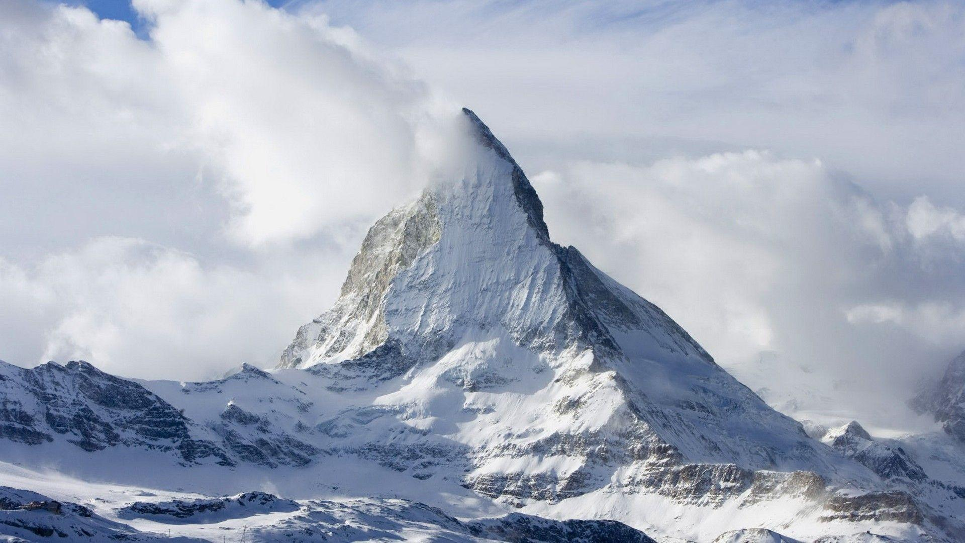 Matterhorn wallpapers wallpaper cave - Hd snow mountain wallpaper ...