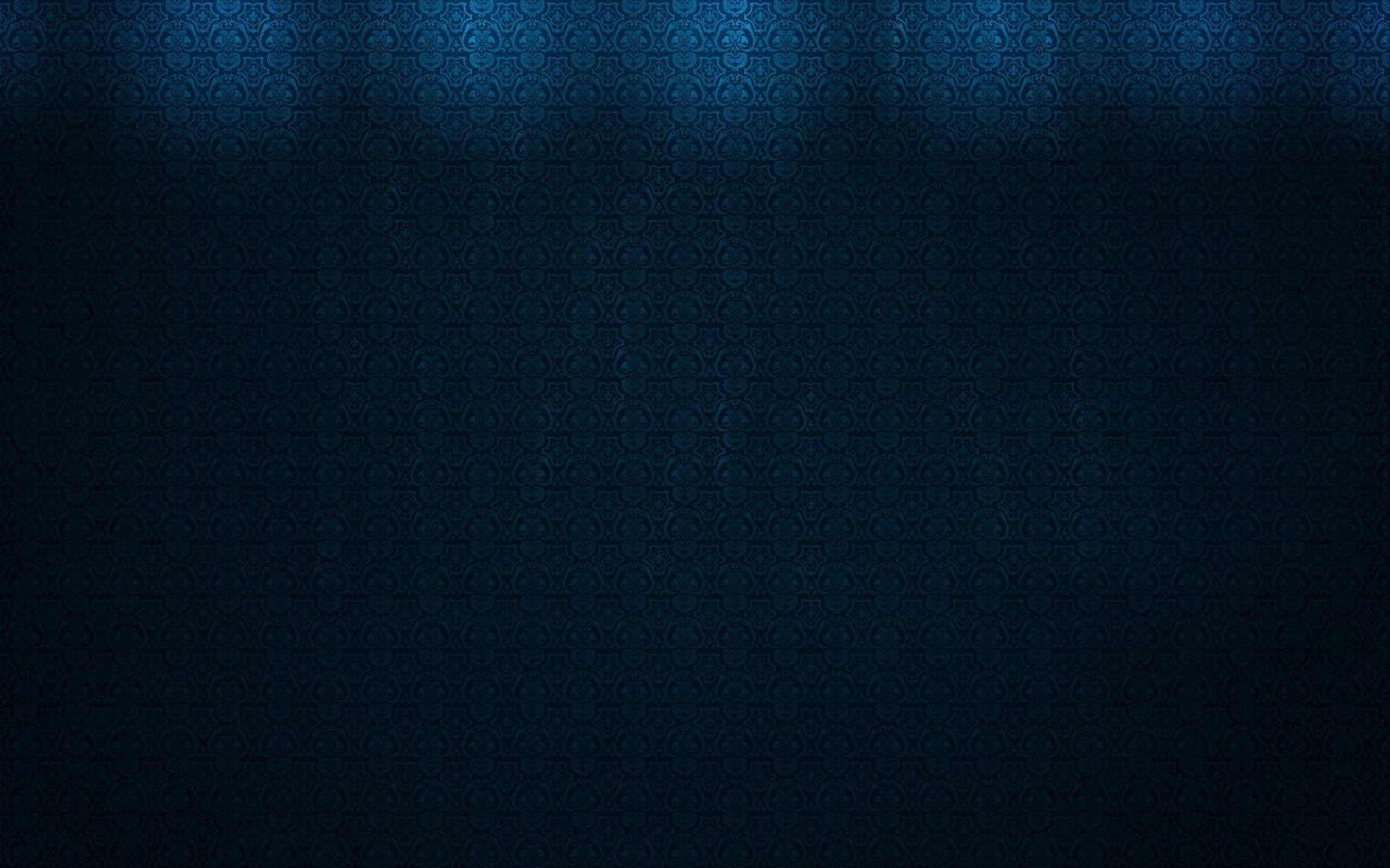 Damask Pattern On Dark Textured Blue Backgrounds Wallpapers