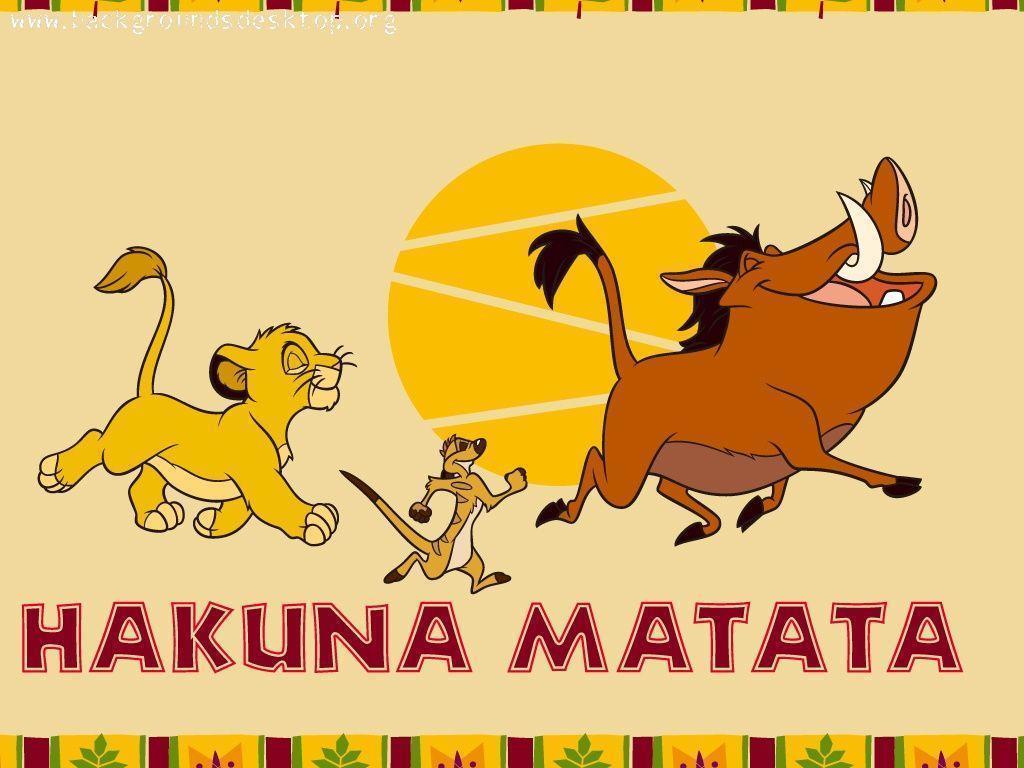 Lion King Hakuna Matata Wallpaper
