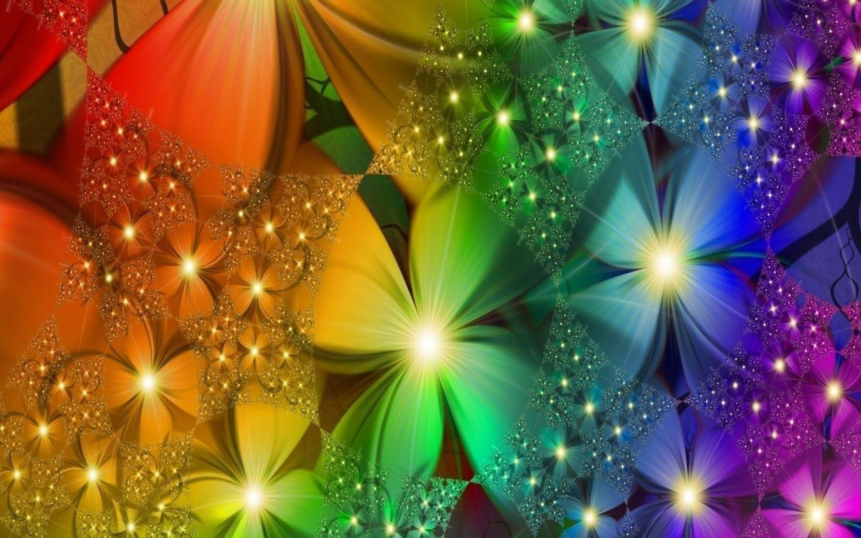 rainbow flower wallpapers wallpaper cave