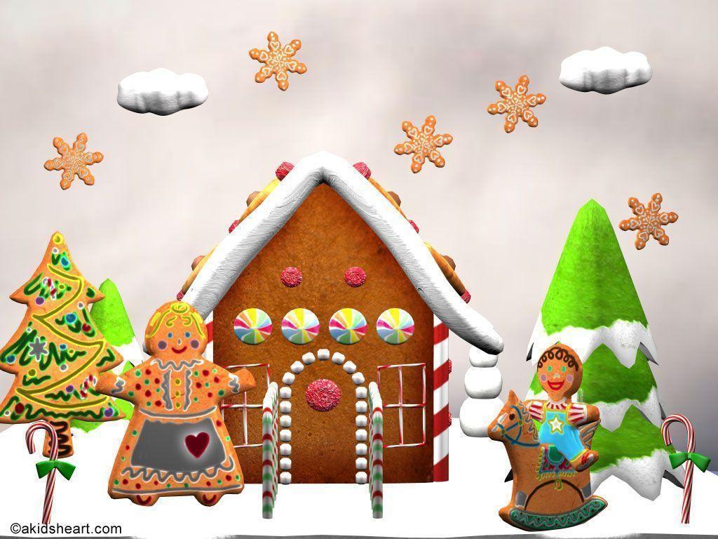Christmas Gingerbread House Cartoon.Gingerbread Man Wallpapers Wallpaper Cave