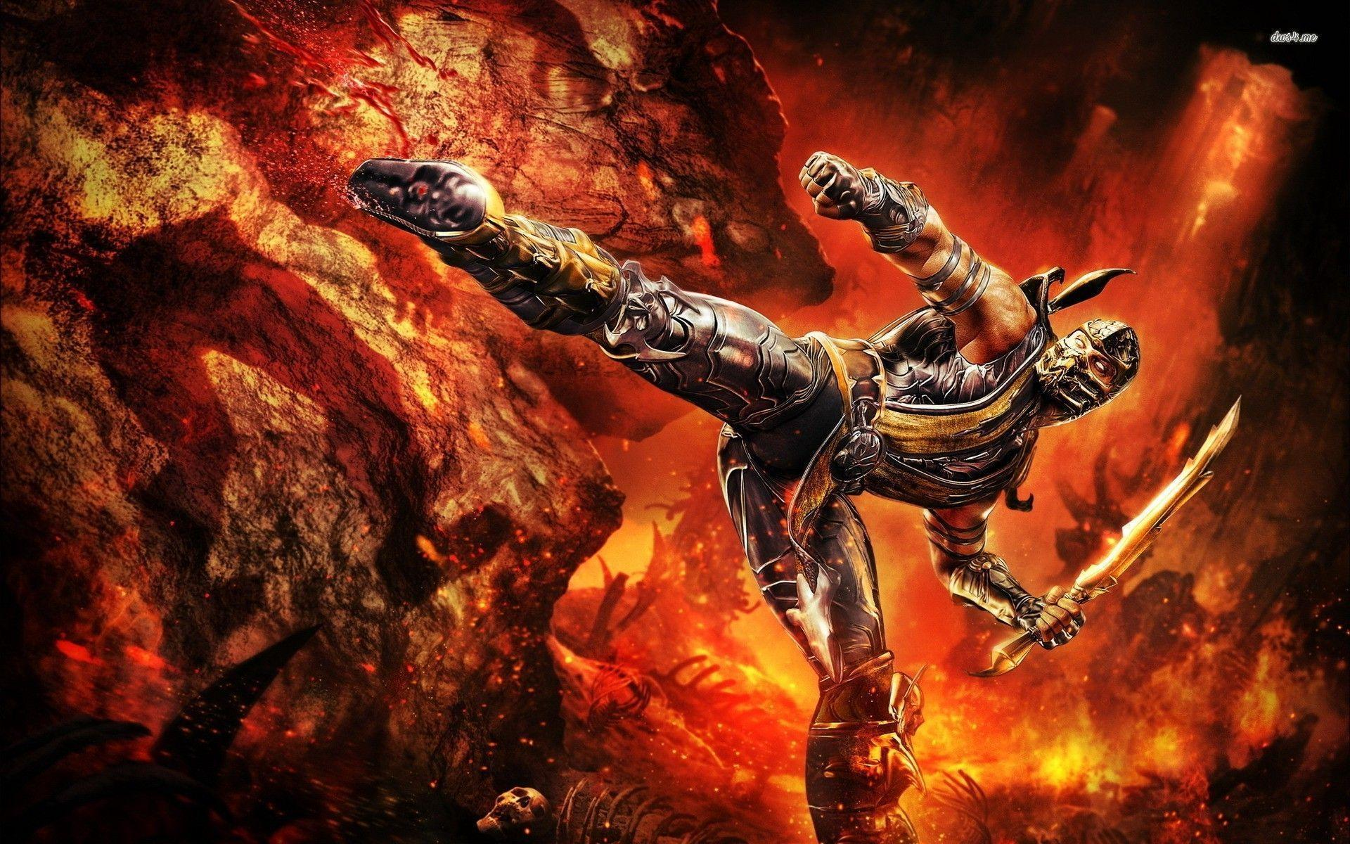 mortal kombat 9 scorpion wallpapers - wallpaper cave