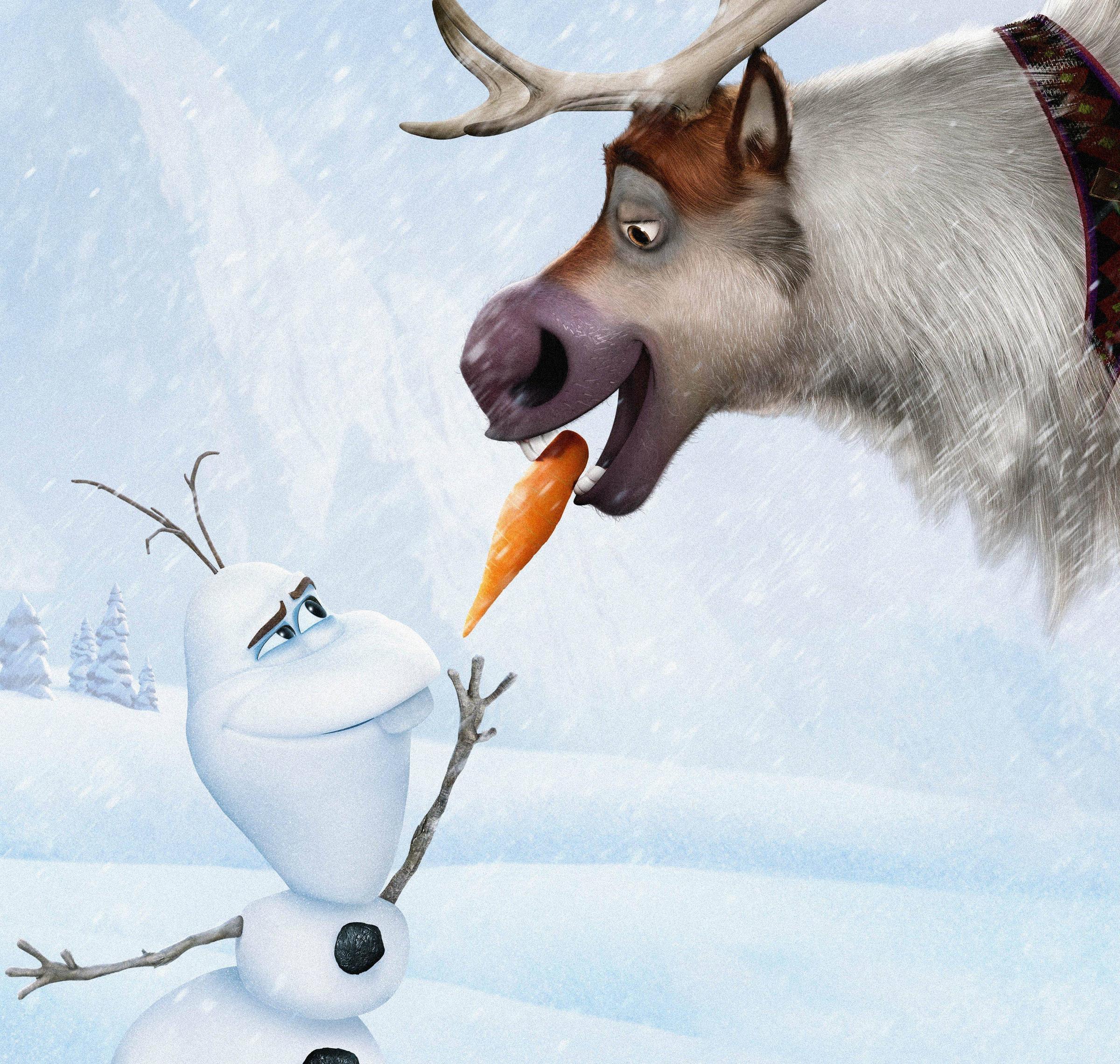 Olaf Wallpapers - Wallpaper Cave Disney Frozen Sven Wallpaper