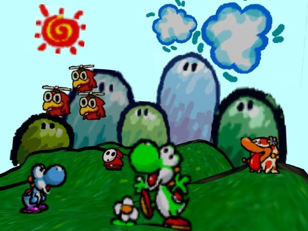 yoshi backgrounds wallpaper cave