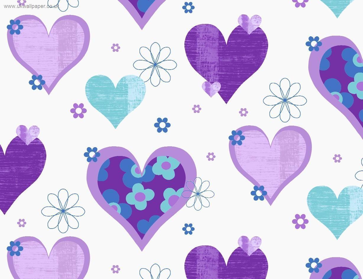 wallpaper purple hearts wallpapers - photo #25