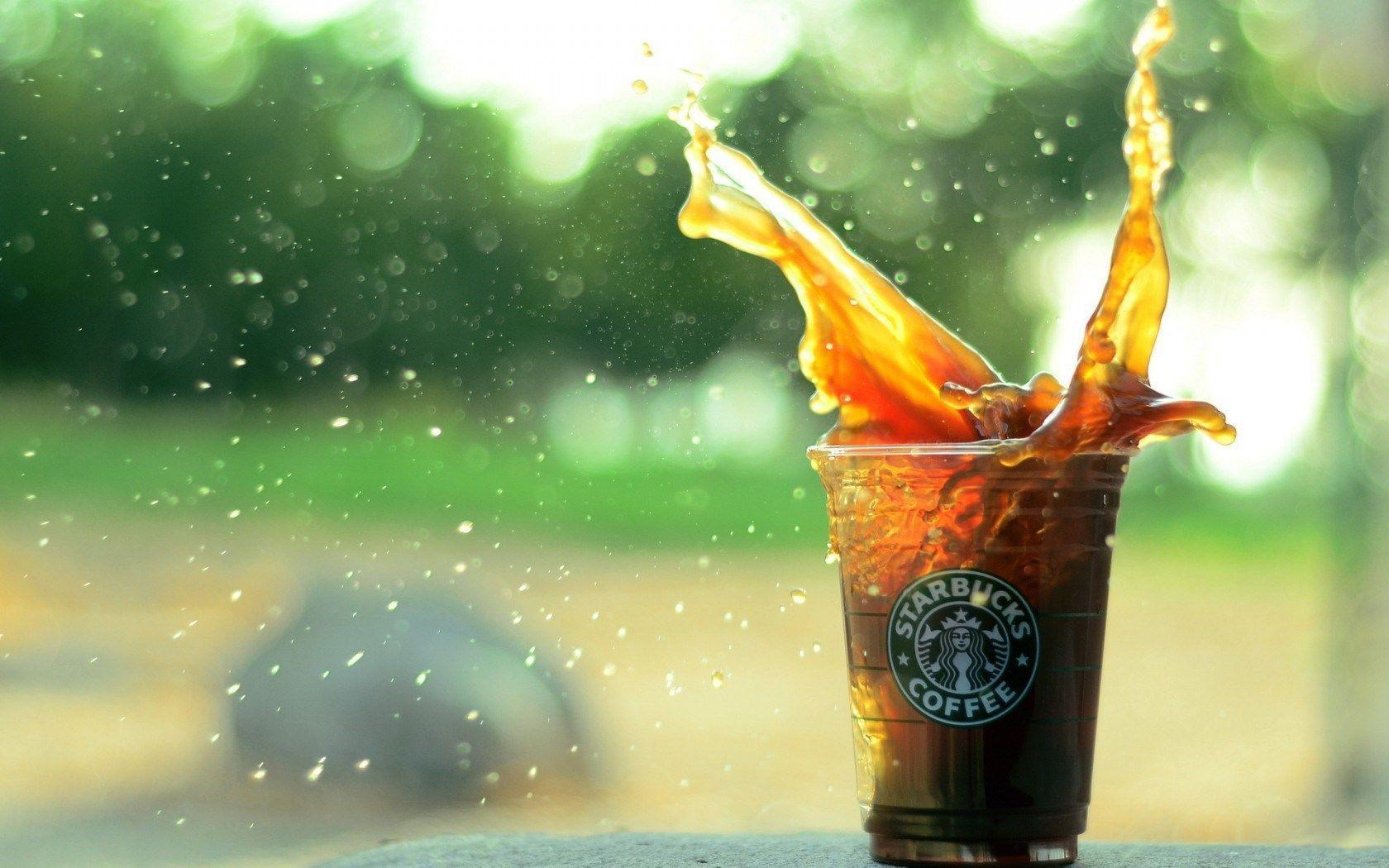 Starbucks Coffee Splash Spray Hd Wallpaper | Wallpaper List