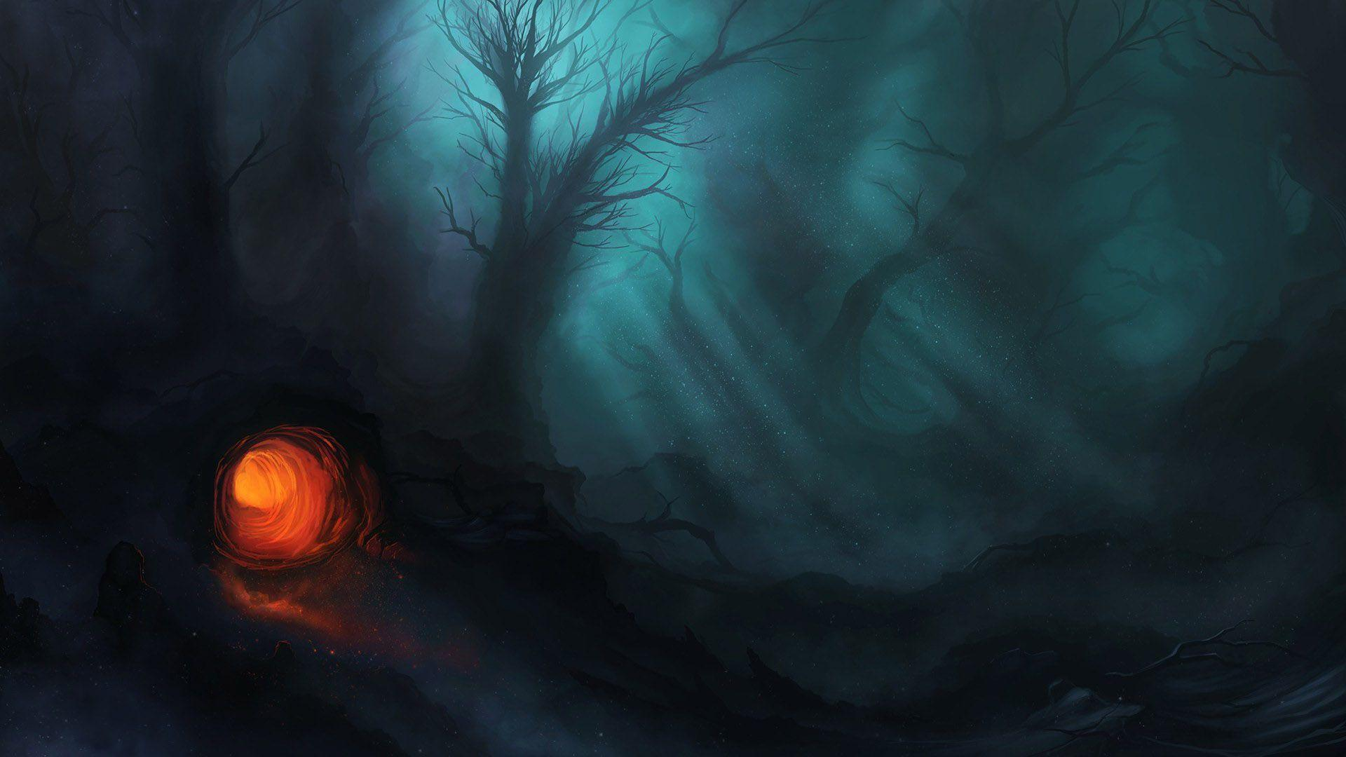 art dark car forest - photo #28