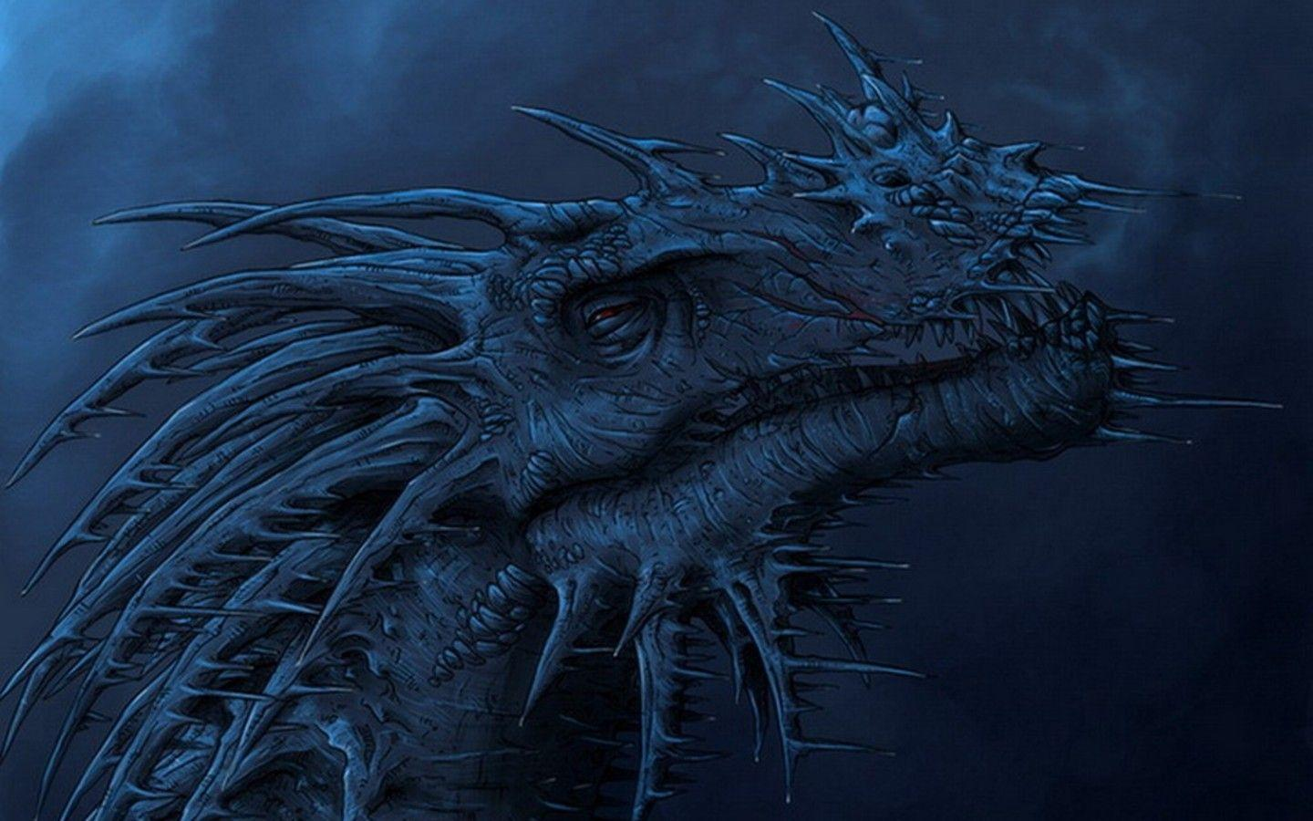 Blue Dragon Face wallpapers from Dragons wallpapers