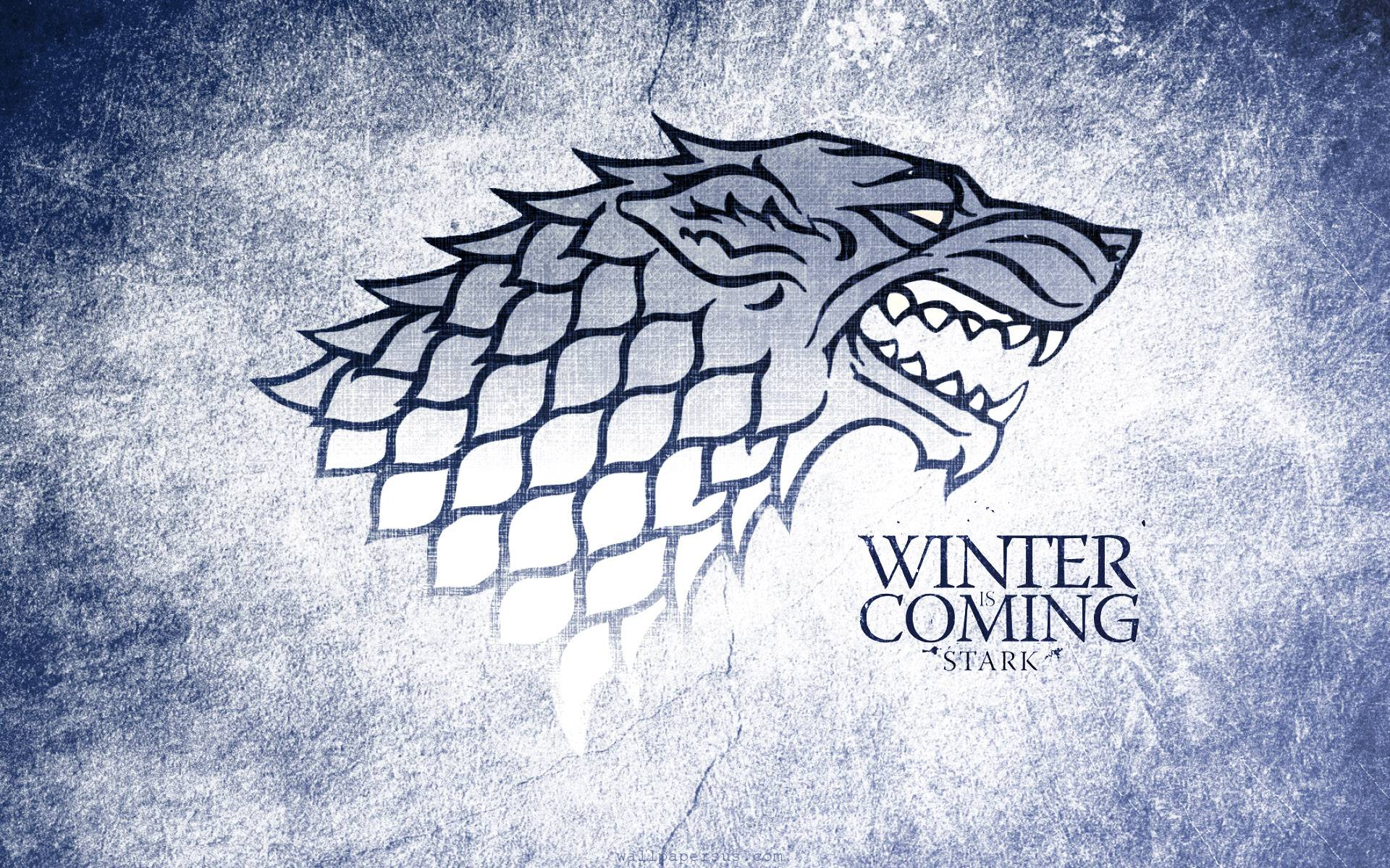 Winter Is Coming Stark Wolf Grunge Logo 1920x1200 WIDE Image TV