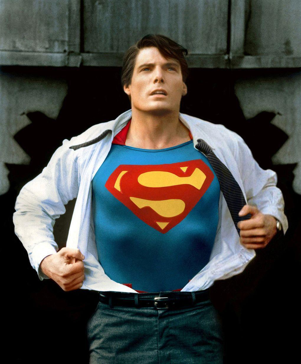 Christopher Reeve - Superman ((A classic photo recently restored ...