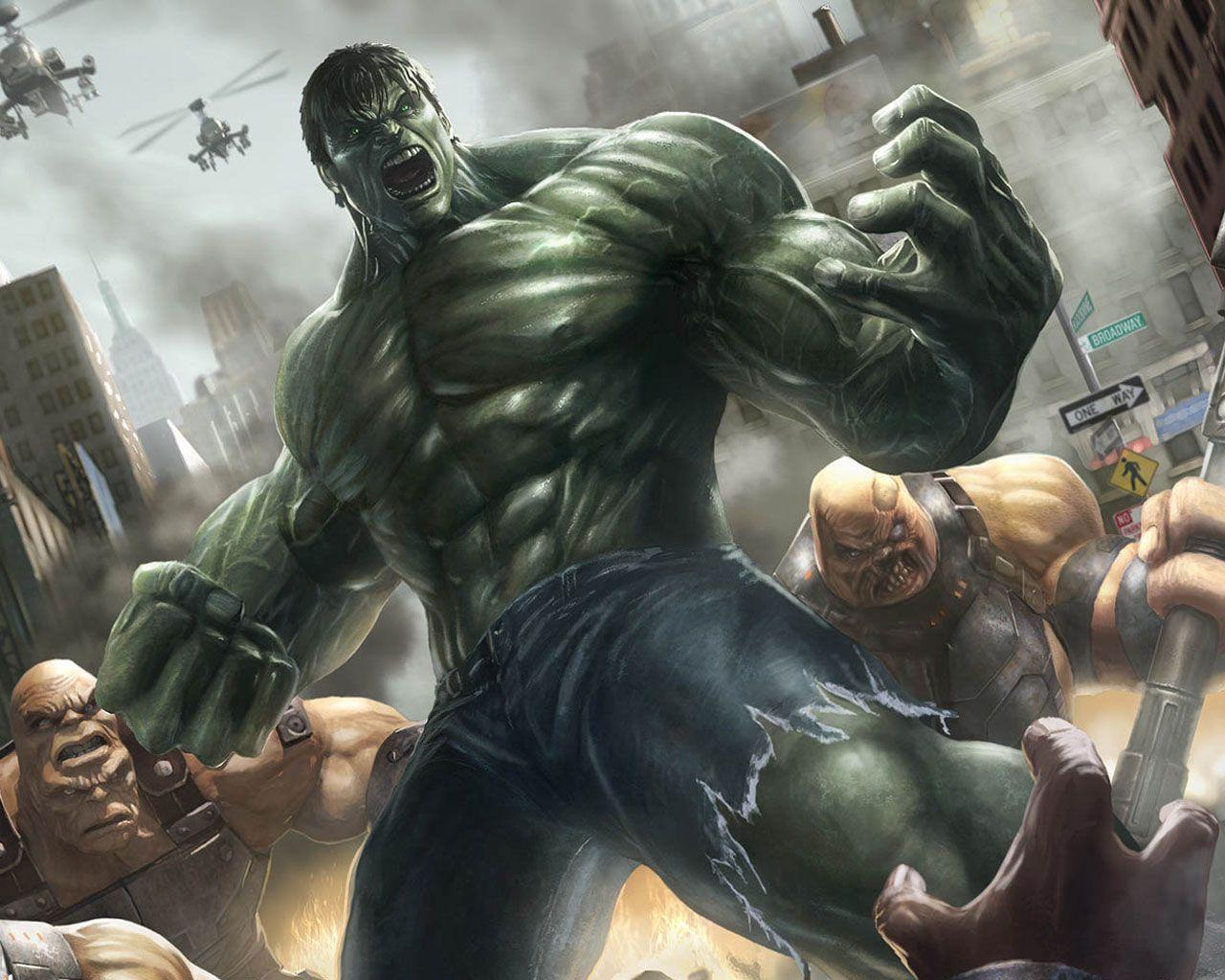 It is a picture of Sly Incredible Hulk Image