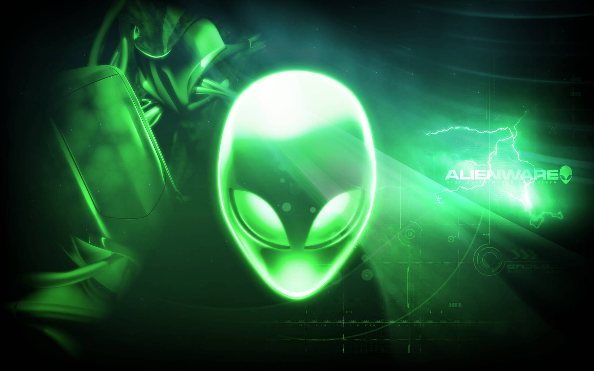 alienware wallpaper green hd - photo #15