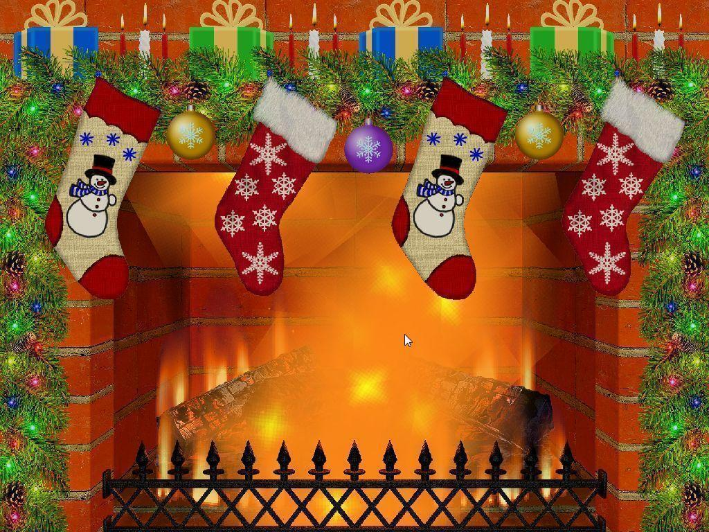 Christmas Fireplace Backgrounds Wallpaper Cave