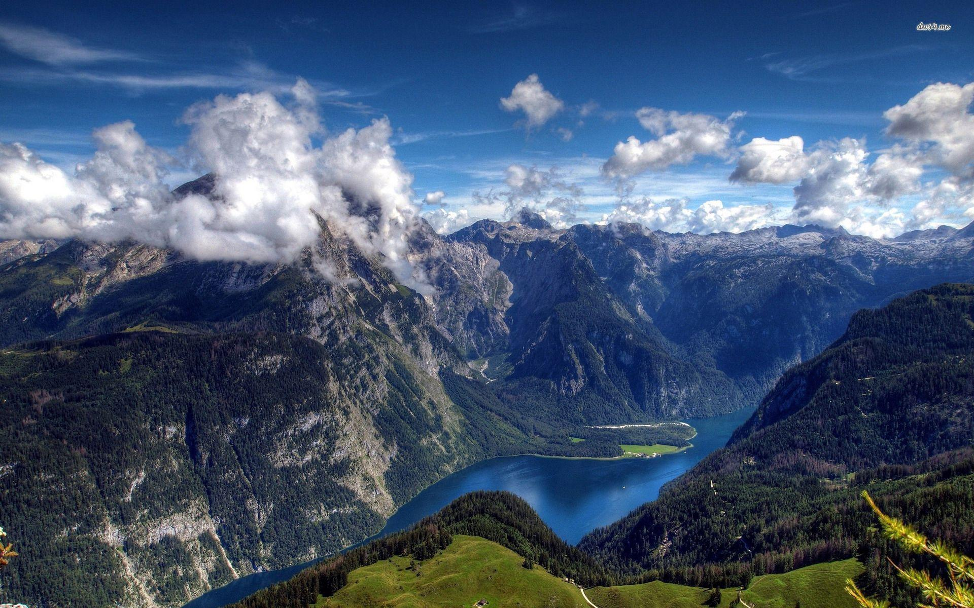 Swiss Alps Lake Full Hd Wallpaper