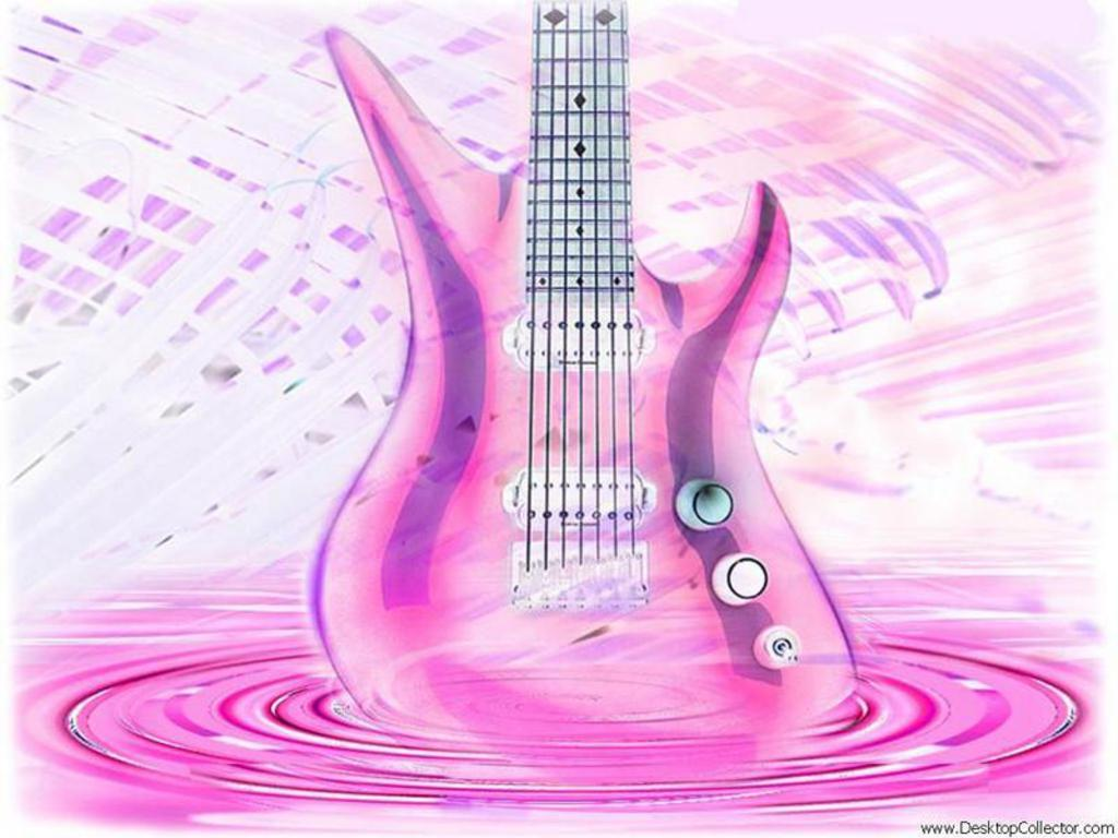 wallpaper music guitar pink - photo #4