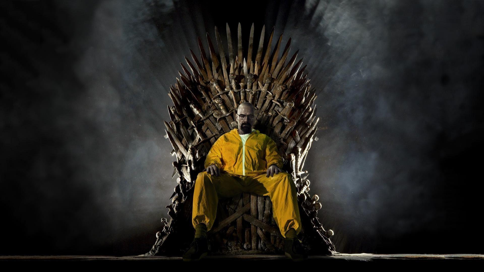 Walter White on the Iron Throne [Breaking Bad Wallpaper]
