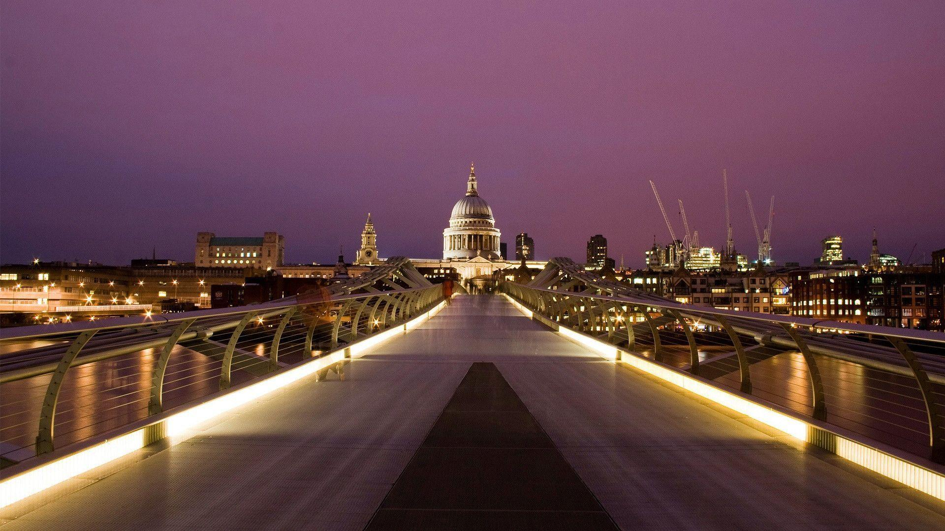 millennium bridge london cityscape wallpaper | Desktop Backgrounds ...