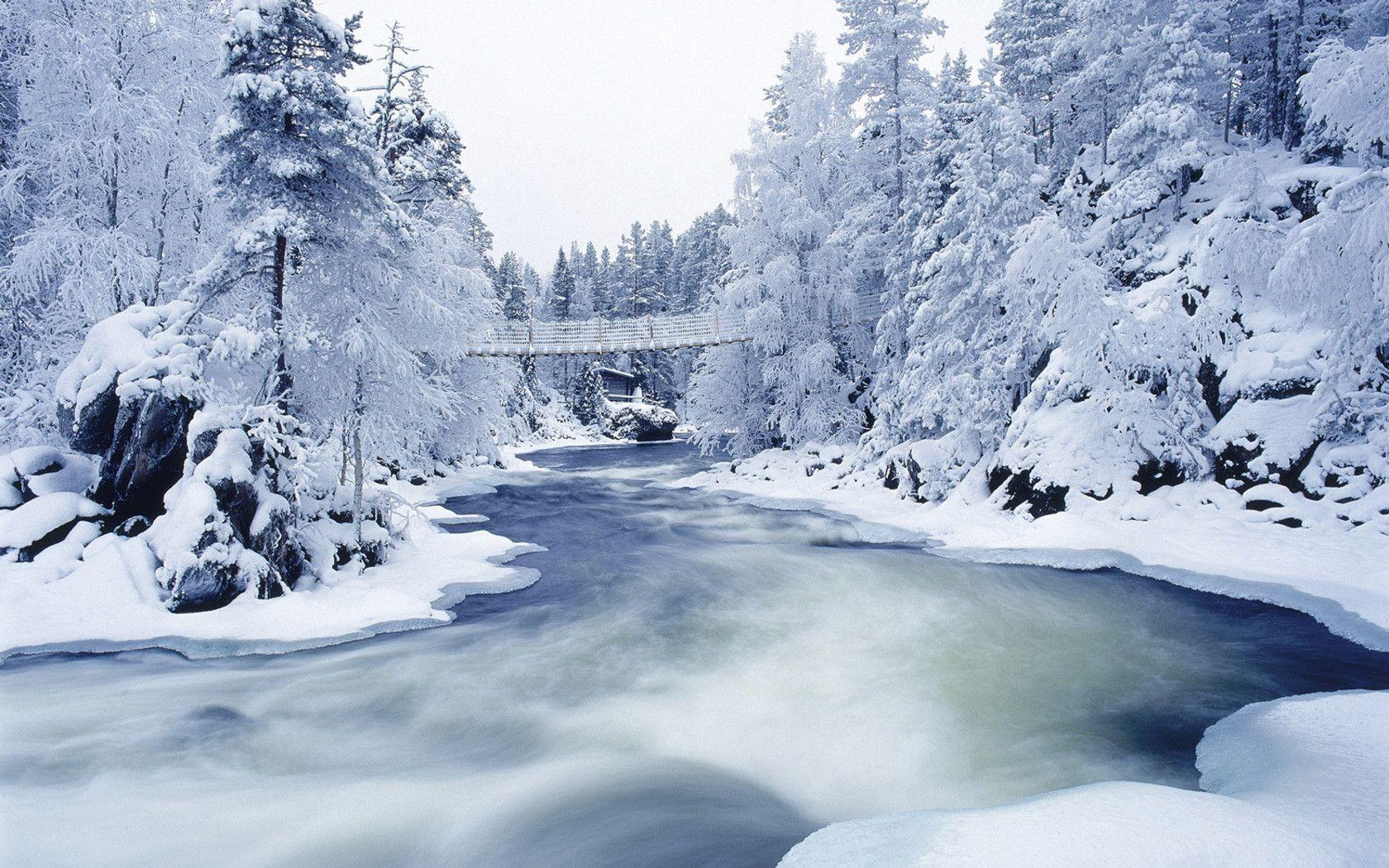 Awesome Bridge And Ice Winter Wallpaper High D #10132 Wallpaper ...