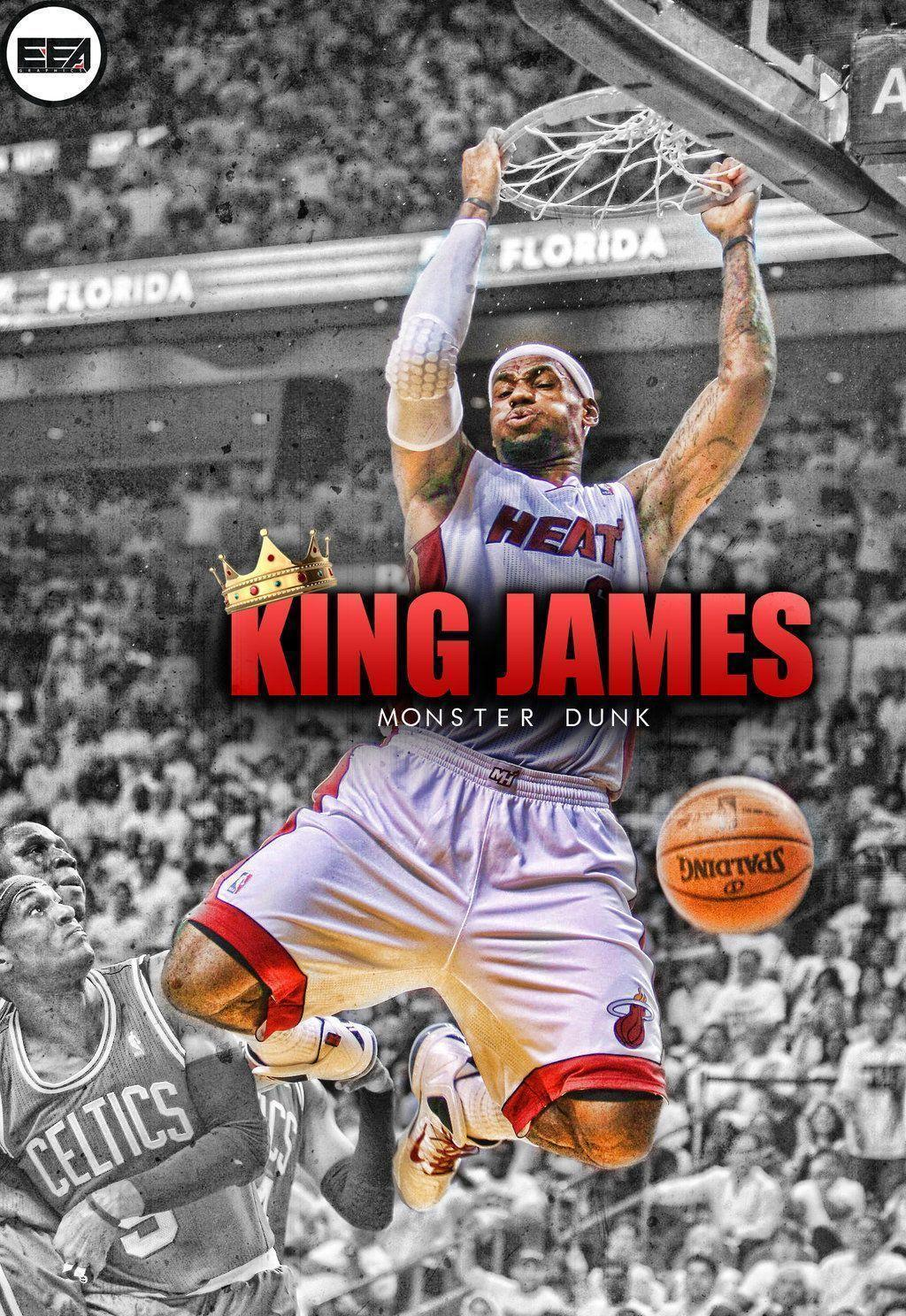 Lebron James Monster Dunk Wallpapers by EmanuelooElArte