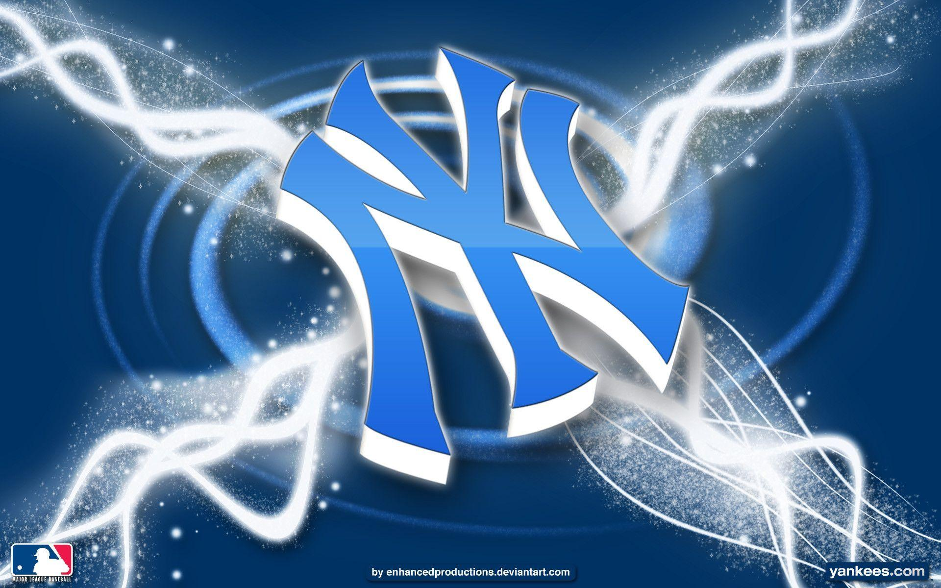 New york yankees logo wallpapers wallpaper cave for New cool images