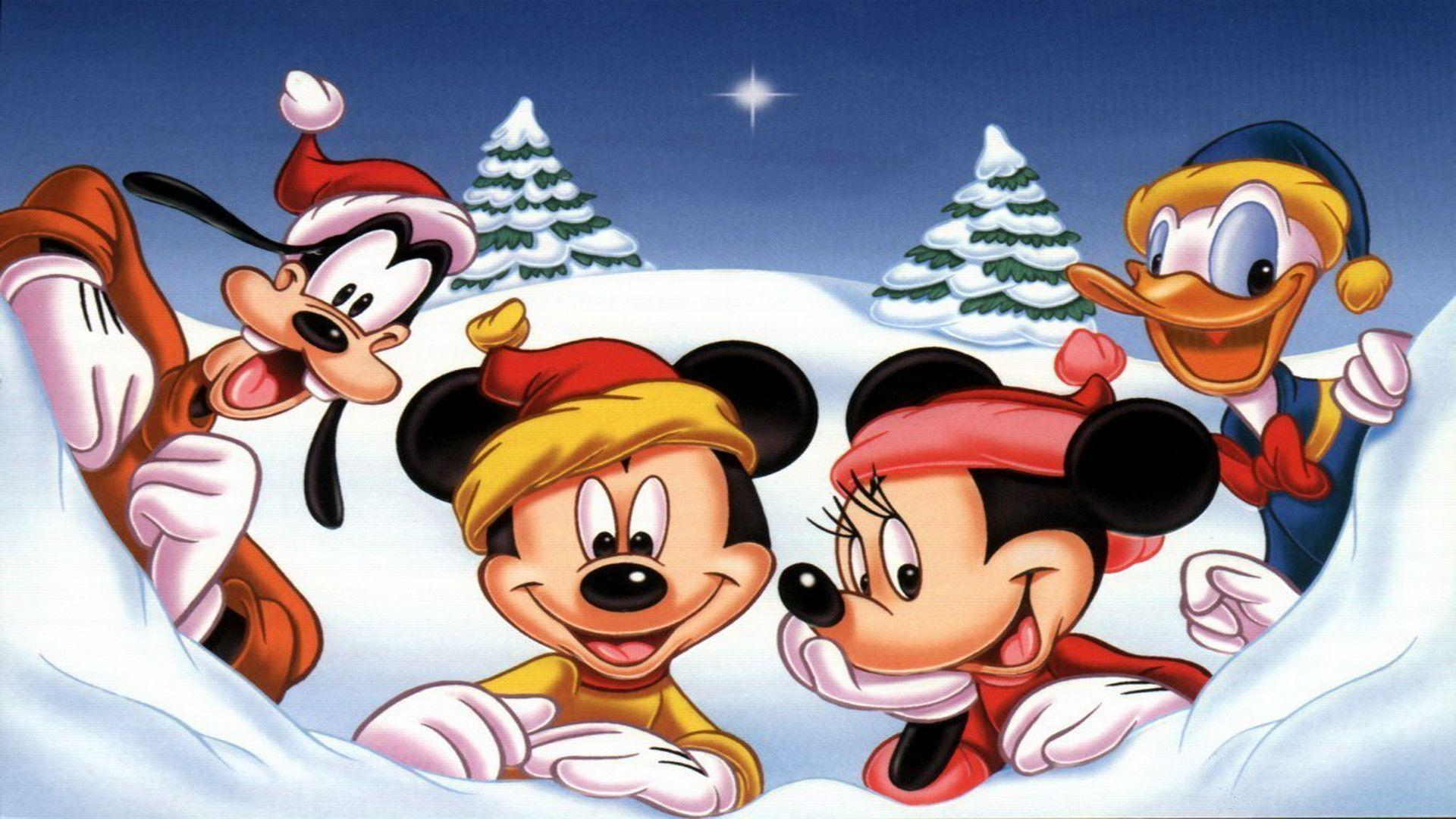 Disney Christmas Wallpapers - Wallpaper Cave