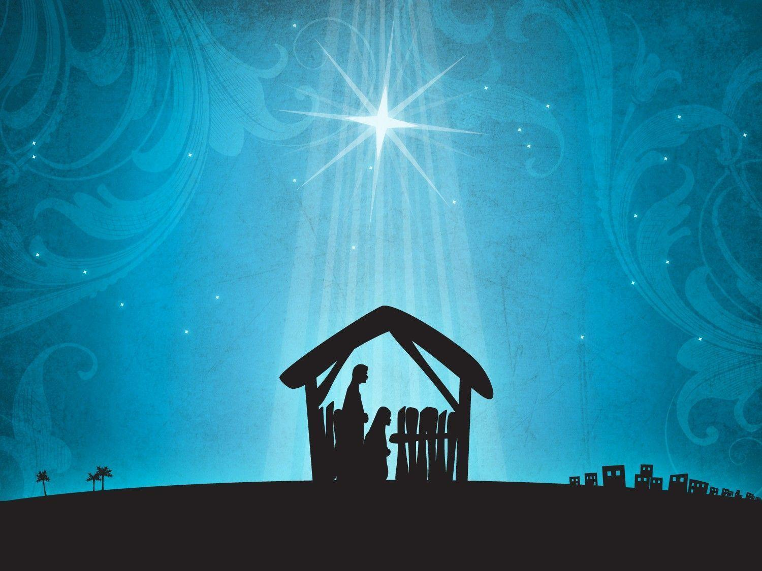 Xmas Stuff For > Merry Christmas Nativity Backgrounds