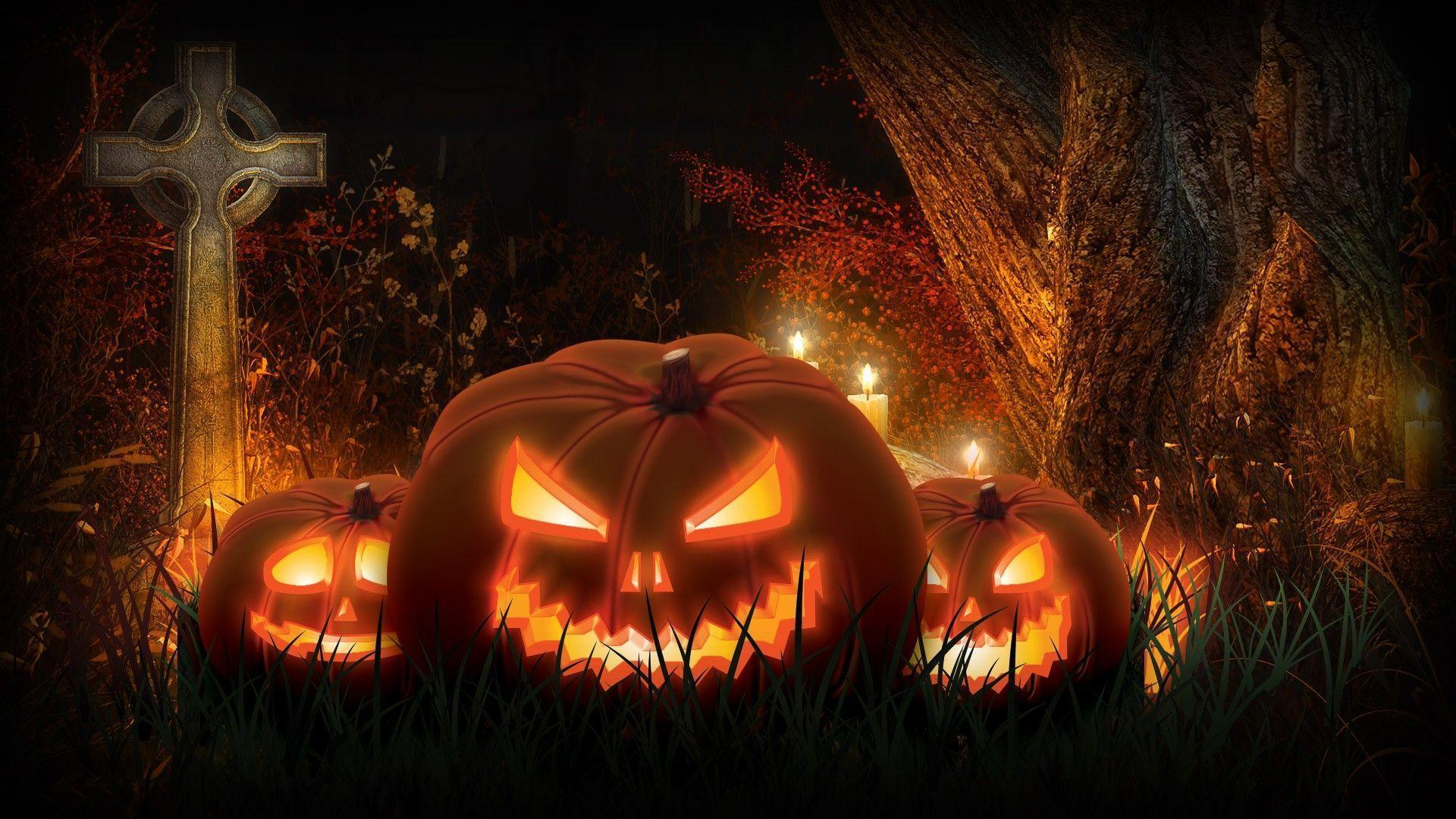 scary halloween pumpkin wallpaper 1080p toobjects