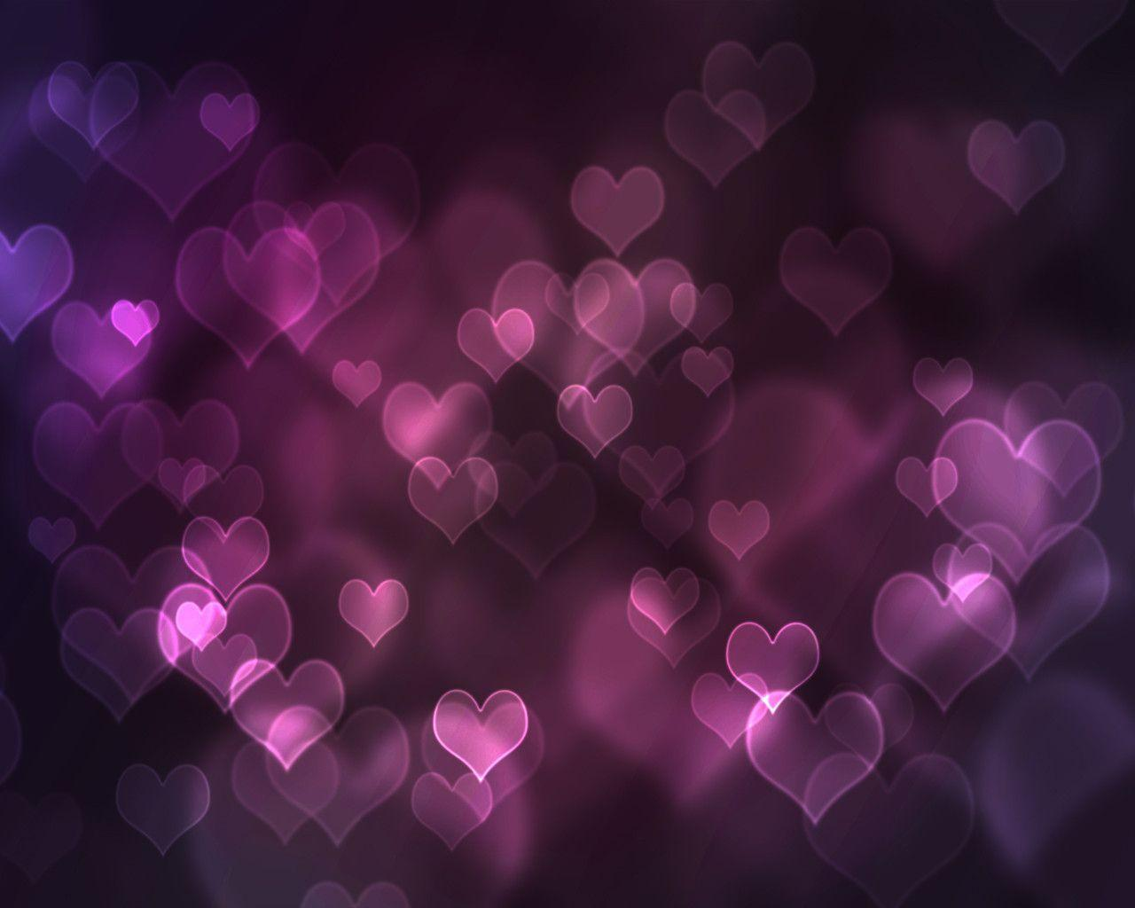 Wallpapers For Purple Hearts And Stars Background