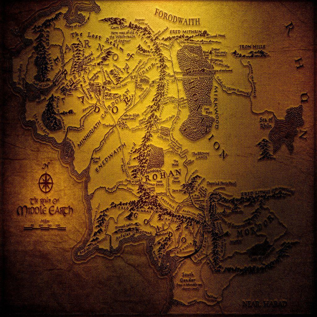 Of The Rings Map Middle Earth Hd Wallpapers In Fantasy Other Category
